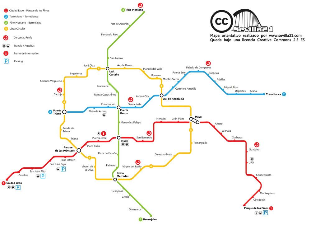 lineas del metro. flamantes líneas de metro